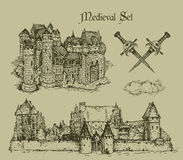 Medieval castles Royalty Free Stock Images