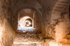 The medieval `castletown` of Monemvasia, often called `The Greek Gibraltar`, Lakonia, Peloponnese. stock images