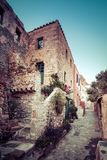 The medieval `castletown` of Monemvasia, often called `The Greek Gibraltar`, Lakonia, Peloponnese. The medieval `castletown` of Monemvasia, often called `The stock photography