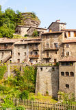 Medieval Catalan village in Pyrenees. Rupit Royalty Free Stock Photo