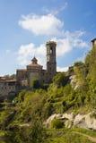 Medieval catalan village Stock Photos