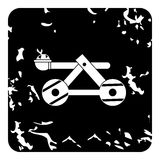 Medieval catapult icon, grunge style. Medieval catapult icon. Grunge illustration of medieval catapult vector icon for web Royalty Free Stock Image