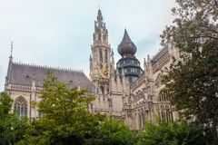Medieval Cathedral in Antwerp Royalty Free Stock Photos