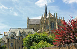 Medieval cathedral arundel, sussex stock image