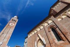 Medieval cathedral ( Cattedrale di Santa Maria Assunta) in Chioggia Stock Photos