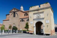 Medieval cathedral ( Cattedrale di Santa Maria Assunta) in Chioggia Stock Photo