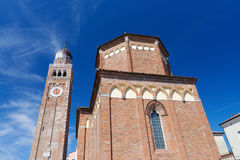 Medieval cathedral ( Cattedrale di Santa Maria Assunta) in Chioggia Royalty Free Stock Image