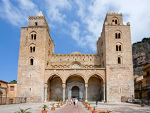 Medieval Cathedral in Cefalu, Sicily Stock Photos