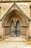 Medieval Cathedral doors Stock Images