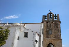 The medieval Cathedral of Faro. Algarve. Portugal Stock Photography