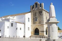 The medieval Cathedral in Faro Royalty Free Stock Images