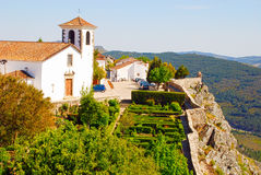 Medieval cathedral and  garden in Marvao(Portugal) Stock Images