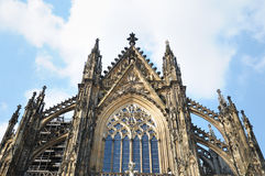 Medieval cathedral in Koeln Royalty Free Stock Images