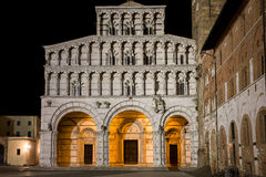 Medieval Cathedral at Night Royalty Free Stock Photography