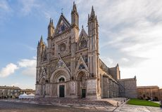Medieval cathedral in Orvieto, Umbria, Italy Royalty Free Stock Image