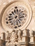 The medieval CATHEDRAL of OTRANTO. The medieval double-sloped façade has been the subject of numerous alterations carried out over the centuries. In the stock photo