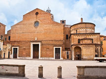 The medieval cathedral of Padua Stock Images