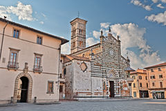 Medieval cathedral in Prato, Tuscany, Italy Royalty Free Stock Photography