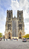Medieval cathedral in Reims Stock Photography