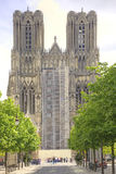 Medieval cathedral in Reims Stock Photo