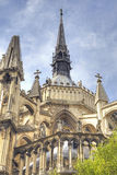Medieval cathedral in Reims Stock Image