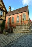 Medieval cathedral in Rotenburg on Tauber, Royalty Free Stock Image