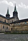 Medieval cathedral St. Jakobs in Bamberg, Stock Images