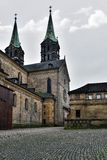 Medieval cathedral St. Jakobs in Bamberg, Royalty Free Stock Image