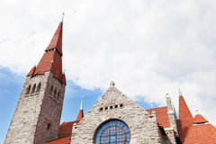 Medieval cathedral in Tampere, Finland Stock Photography