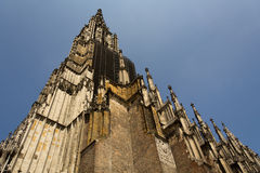 Medieval Cathedral of Ulm, in Southern Germany. Ulm Munster, the tallest church in the world stock photo