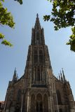 Medieval Cathedral of Ulm, in Southern Germany Royalty Free Stock Images