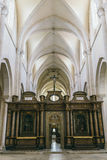 Medieval cathedral view inside Stock Photography