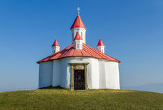 Medieval Catholic chapel in Transylvania. In honour of king St. Stephen of Hungary, located on the hill of Perko Royalty Free Stock Photography