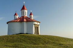 Medieval Catholic chapel in Transylvania. In honour of king St. Stephen of Hungary, located on the hill of Perko Royalty Free Stock Image