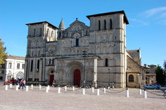 The medieval Catholic Church in  Bordeaux Stock Image