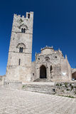 Medieval Catholic Church in Erice, Sicily Royalty Free Stock Images