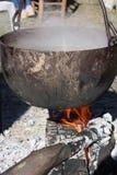 Medieval cauldron Stock Photos