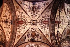 Medieval ceiling fresco in Palazzo Vecchio, Florence, Italy Royalty Free Stock Image