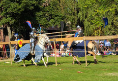 Medieval Celebration in Abbey de Forest Stock Photo