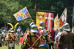 Medieval Celebration of battle of 1477 in Deurne Royalty Free Stock Photography