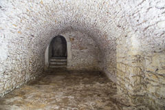 Medieval cellar Royalty Free Stock Photos