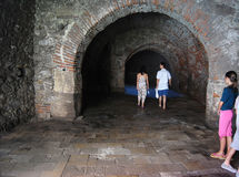 Medieval celler walk Royalty Free Stock Photo