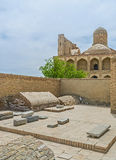 The medieval cemetery in Chor-Bakr Royalty Free Stock Photo