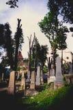 Medieval cemetery, Sighisoara, Transylvania royalty free stock photography