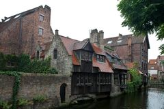 Medieval centre of Bruges Stock Photography