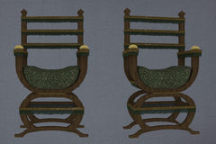 Medieval chairs Stock Image