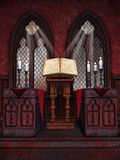 Medieval chapel with candles Stock Photography