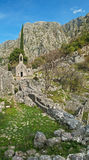 Medieval chapel in mountains vertical panorama Stock Photography