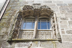 Medieval characteristic window Royalty Free Stock Photo