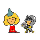 Medieval characters - Love Royalty Free Stock Photos